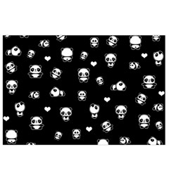 Panda Pattern Canvas Cosmetic Bag (small)