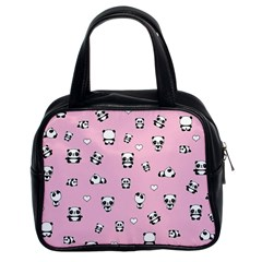 Panda Pattern Classic Handbags (2 Sides) by Valentinaart