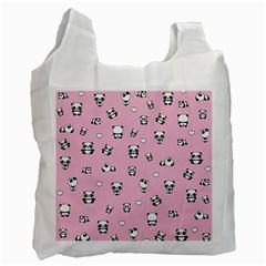 Panda Pattern Recycle Bag (one Side) by Valentinaart