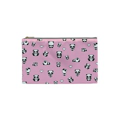 Panda Pattern Cosmetic Bag (small)  by Valentinaart