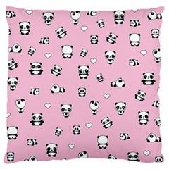 Panda Pattern Standard Flano Cushion Case (one Side) by Valentinaart