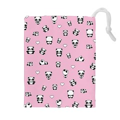 Panda Pattern Drawstring Pouches (extra Large) by Valentinaart