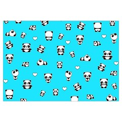 Panda Pattern Canvas Cosmetic Bag (medium)