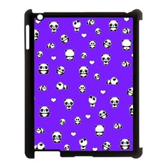 Panda Pattern Apple Ipad 3/4 Case (black) by Valentinaart