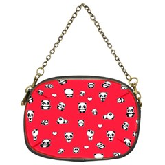Panda Pattern Chain Purses (two Sides)  by Valentinaart