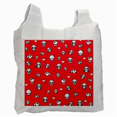 Panda Pattern Recycle Bag (one Side) by Valentinaart