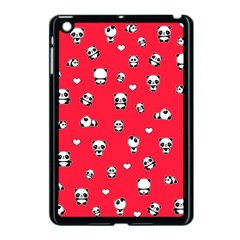 Panda Pattern Apple Ipad Mini Case (black) by Valentinaart