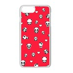 Panda pattern Apple iPhone 8 Plus Seamless Case (White) Front