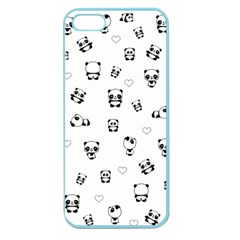 Panda Pattern Apple Seamless Iphone 5 Case (color) by Valentinaart
