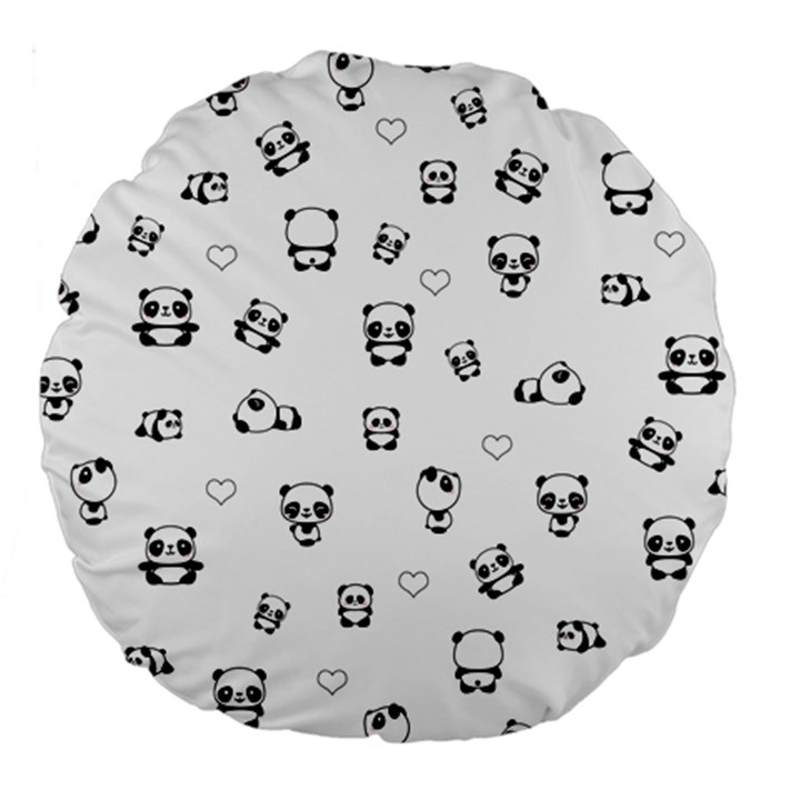 Panda pattern Large 18  Premium Round Cushions