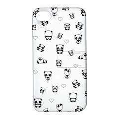 Panda Pattern Apple Iphone 4/4s Hardshell Case With Stand by Valentinaart