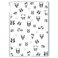 Panda Pattern Apple Ipad Pro 9 7   White Seamless Case by Valentinaart