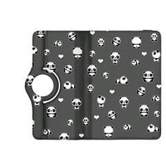 Panda Pattern Kindle Fire Hdx 8 9  Flip 360 Case by Valentinaart