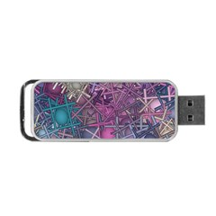 Fun,fantasy And Joy 1 Portable Usb Flash (one Side) by MoreColorsinLife
