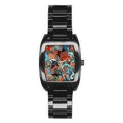 Fun,fantasy And Joy 2 Stainless Steel Barrel Watch by MoreColorsinLife