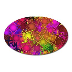 Fun,fantasy And Joy 5 Oval Magnet by MoreColorsinLife