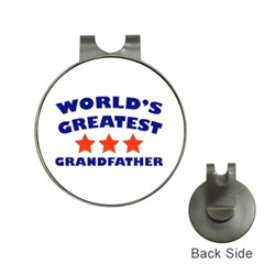 World Greatest Grandfather Hat Clip With Golf Ball Marker