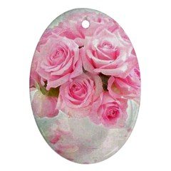 Pink Roses Ornament (oval) by 8fugoso