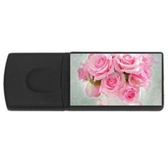 Pink Roses Rectangular Usb Flash Drive by 8fugoso