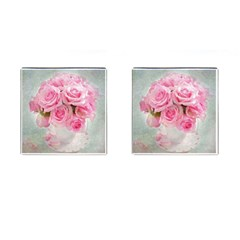 Pink Roses Cufflinks (square) by 8fugoso