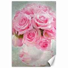 Pink Roses Canvas 24  X 36  by 8fugoso