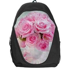 Pink Roses Backpack Bag by 8fugoso