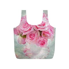 Pink Roses Full Print Recycle Bags (s)  by 8fugoso