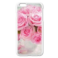 Pink Roses Apple Iphone 6 Plus/6s Plus Enamel White Case by 8fugoso