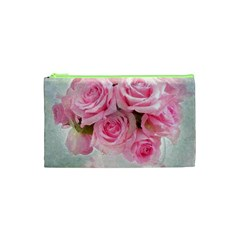 Pink Roses Cosmetic Bag (xs) by 8fugoso