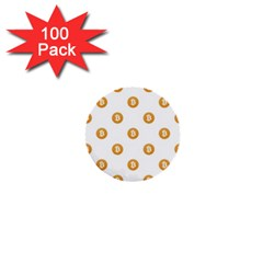 Bitcoin Logo Pattern 1  Mini Buttons (100 Pack)  by dflcprints