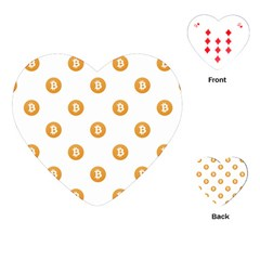 Bitcoin Logo Pattern Playing Cards (heart)  by dflcprints