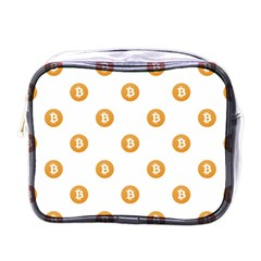 Bitcoin Logo Pattern Mini Toiletries Bags by dflcprints