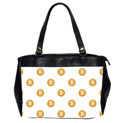 Bitcoin Logo Pattern Office Handbags (2 Sides)  by dflcprints