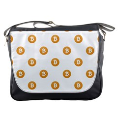 Bitcoin Logo Pattern Messenger Bags by dflcprints