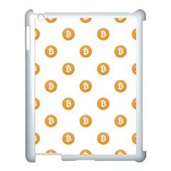 Bitcoin Logo Pattern Apple Ipad 3/4 Case (white) by dflcprints