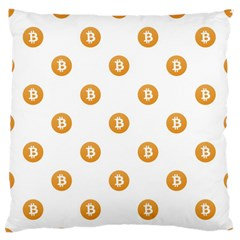 Bitcoin Logo Pattern Standard Flano Cushion Case (one Side) by dflcprints
