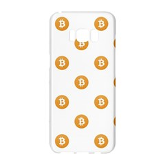 Bitcoin Logo Pattern Samsung Galaxy S8 Hardshell Case  by dflcprints
