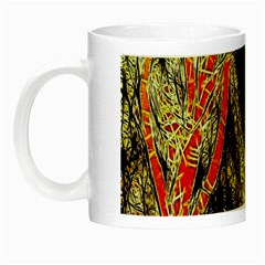 Artistic Effect Fractal Forest Background Night Luminous Mugs by Amaryn4rt