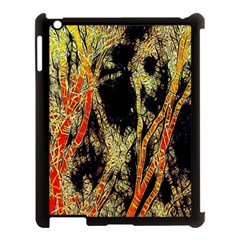 Artistic Effect Fractal Forest Background Apple Ipad 3/4 Case (black) by Amaryn4rt