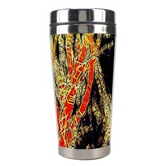Artistic Effect Fractal Forest Background Stainless Steel Travel Tumblers by Amaryn4rt