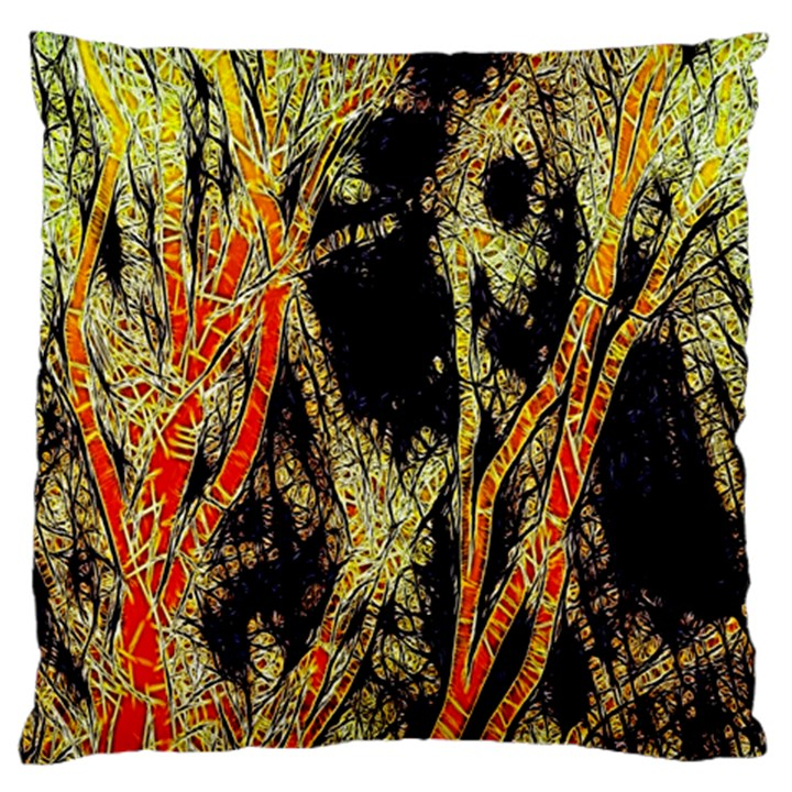 Artistic Effect Fractal Forest Background Large Flano Cushion Case (Two Sides)