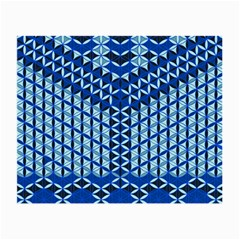 Flower Of Life Pattern Blue Small Glasses Cloth (2 Side) by Cveti