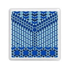 Flower Of Life Pattern Blue Memory Card Reader (square)  by Cveti