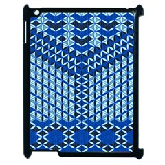 Flower Of Life Pattern Blue Apple Ipad 2 Case (black) by Cveti