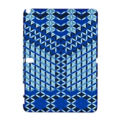 Flower Of Life Pattern Blue Galaxy Note 1 by Cveti