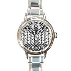 Flower Of Life Grey Round Italian Charm Watch