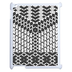 Flower Of Life Grey Apple Ipad 2 Case (white) by Cveti