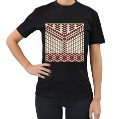 Flower Of Life Pattern Red Blue Women s T Shirt (black) by Cveti