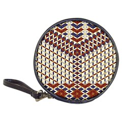 Flower Of Life Pattern Red Blue Classic 20 Cd Wallets by Cveti