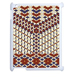 Flower Of Life Pattern Red Blue Apple Ipad 2 Case (white) by Cveti